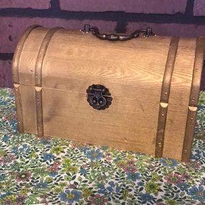 Vintage Wooden Treasure Chest